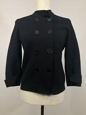 Women's TALBOTS Petite Medium Black Cardigan Sweater Cotton Rayon Buttons