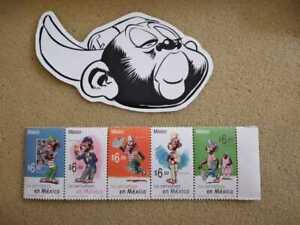 Controversial (Racist) Mexico Comic Strip Stamp Memin Pinguin Full Set Of 5