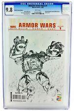 IRON MAN ULTIMATE ARMOR WARS #1 CGC 9.8 NM/MT 2009 DIAMOND SUMMIT SKETCH VARIANT