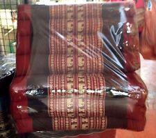 Triangle Cushion Pillow Thai Handicraft 100% Kapok Cotton 3 Fold Thai Elephant