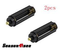 2PCS AAA Batteries Case Box Holder Switch to 18650 Li-ion  Battery Converter