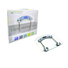 Crystaline Digital Bathroom Body Weight Bath Scale Tempered glass Metal 360 LBS