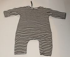 ALBUM DI FAMIGLIA Baby One Piece Striped Suit Off-White Italy 12-18m NEW w/Tags