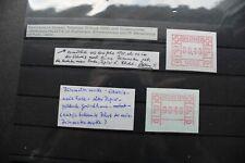 Spezialpartie Schweiz ATM mit seltenem Probedruck und Abart (3 Fotos)