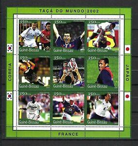 Guinea-Bissau 2001 Mi#1385-96  World Cup Soccer 2002-Deschamps  MNH M/S  $9.20