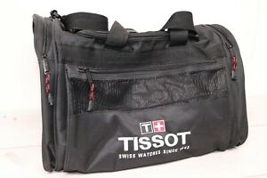"Tissot Swiss Watch Duffle Bag w/ Shoulder Strap Carry On Travel Gym 18""x12""x11"""