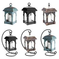 Garden Solar Powered LED Candle Table Lantern Hanging Light Outdoor Garden Lamp