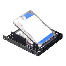 2.5 to 3.5 inch SSD Hard Drive Dual Desktop Bay Adapter Mounting Bracket Black