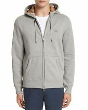 Burberry Mens Claredon Full Zip Hoodie X-Large XL Pale Grey Melange