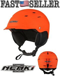 Nenki Snowboard & Ski Helmet Multi Sports Helmet NK-2289 Matt Orange, Large *NWT