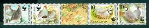 Yugoslavia Scott #2479 MNH WWF Birds Fauna STRIP CV$12+