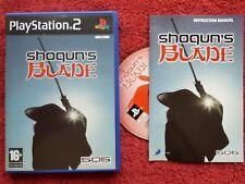 SHOGUN'S BLADE ORIGINAL BLACK LABEL SONY PLAYSTATION 2 PS2 PAL VGC