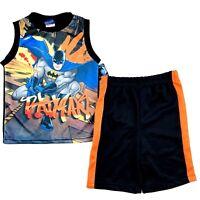 DC Comics Batman Tank Top and Shorts Set Size 4T Toddler Boys Black Orange