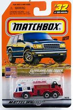 Matchbox #32 Cleveland Fire Truck With MB 2000 Logo New On Card