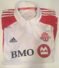 Toronto FC Jersey Polo Adidas Size XL White BMO Clima Cool Stitched MLS