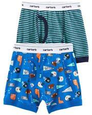 New Carter's 2 Pack Boy Boxer Briefs Underwear size 2 3 4 5 6 7 8 NWT Football