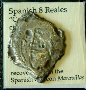 1653 8 REALES or Piece of 8 from MARAVILLAS shipwreck 1656