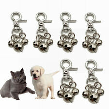More details for 6x pet bells for collars loud dog cat bells key rings dog bell collar charm