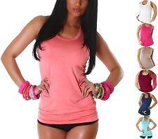 Damen-Trägertops hüftlange Damenblusen, - tops & -shirts mit Stretch