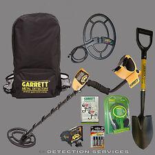 "Garrett Ace 250 Sport pack metal detector con accessori + extra coil  9""x12"""