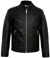 Black Men's Leather Jacket - Pakistani Sheep Nappa Leather