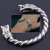 Antique Norse Viking Dragon Bracelet Cuff Bangle Wristband Men Jewelry Alloy