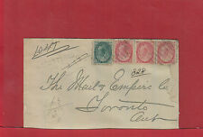 1902 Registered Numeral Canada cover 4 stamps BALLYDUFF Ont.