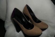 Made in Italia Platform Pumps multi color Suede  Size 35 us 5 new