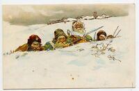 Home Defense Vintage Russian Patriotic Postcard