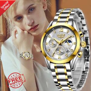 LIGE 2021 New Gold Watch Women Watches Ladies Creative Steel Women's Bracelet Wa
