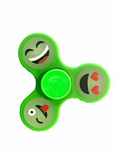 Glow in The Dark Fidget Hand Spinner for Stress Relief Toy 3D - Emoji Faces