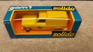 Vintage Solido # 42 Renault 4 Panel Van 1/43 Scale France Mint Boxed