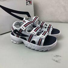 Size 7 Women's Fila Disruptor Sandal HS Athletic Sandals 5SM00105-125 White Blue