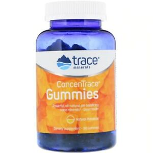 Trace Minerals Research ConcenTrace Gummies, Pineapple, 90 Gummies Exp: 05/2021