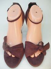 "BCBG Max Azria Womens US10B EU40 Purple suede Slingback Sandals 4"" Heels Shoes"