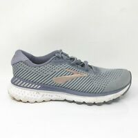 Brooks Womens Adrenaline GTS 20 1202961D073 Gray Running Shoes Lace Up Size 7 D