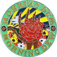 3933 Morning Dew Skeleton Hand Holding Rose Flower Enamel Hat Pin Button Brooch