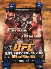 UFC FN Poster Sbc Anderson Silva Vs James Irvin Autographed