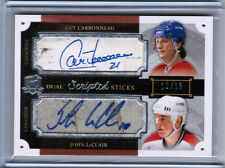 13/14 THE CUP CARBONNEAU LECLAIR DUAL SCRIPTED STICKS AUTO 15 MONTREAL CANADIENS