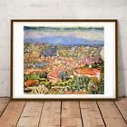 FRENCH ART PIERRE BONNARD CANNET POST-IMPRESSIONISM VIEW LE ROOFS 6 36X24 INCHES