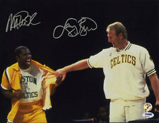Magic Johnson Larry Bird DUAL SIGNED 11x14 Photo Lakers ITP PSA/DNA AUTOGRAPHED