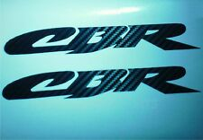 """CARBON FIBER CBR DECALS, SET OF 2, (7""""x 1"""",) honda rr xx 900 f3 f4 fairing"""