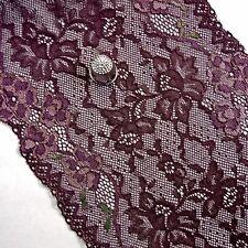 Purple Embroidered Flower Stretch Lace Border Underwear Lingerie M403
