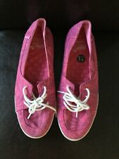 Vans Womens Pink With Leaf Print Lace Up Pumps Size 5