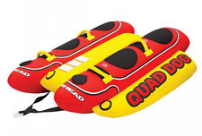 AIRHEAD Hot Dog 4-Rider Towable Inflatable Boat Lake Tube, Up To 4 People | HD-4