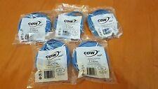 *NEW* Lot of 5 CDW 7' Cat5e Patch Cable Blue RJ45M/M A3L781-14BL-CDW