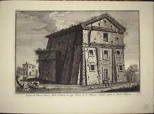 Stampa antica Tempio di Bacco Urbano Roma Giuseppe Vasi 1760 old print caffarell