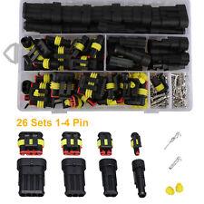 1 4pin Electrical Wire Connectors Plug Set Waterproof Automotive Seal Plug Kit N