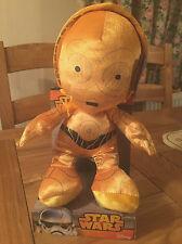 """DISNEY Star Wars C3PO giocattolo morbido peluche. 10"""" """"Tall. nella casella Nuovo di zecca."""