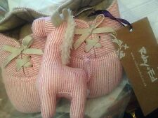 £ 24 Ruby & Ed rosso a righe Baby Regalo Giocattolo Morbido & Stivali Stivaletti Scarpe 18-24 mesi
